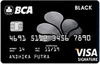 Informasi kartu Kredit BCA Black Visa | pilihkartu.com