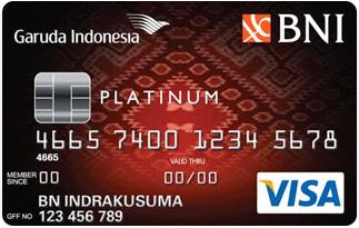 Informasi Kartu Kredit BNI Garuda Platinum | pilihkartu.com