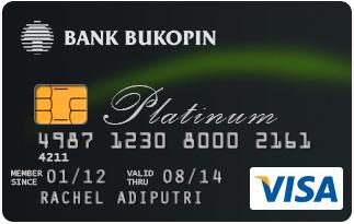 Kartu Kredit Bukopin Visa Platinum Jaringan Visa