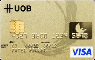 Informasi kartu kredit UOB Visa Gold| pilihkartu.com