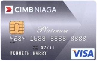 Informasi kartu kredit CIMB Niaga visa platinum | pilihkartu.com