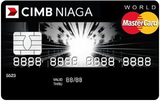 Informasi kartu kredit CIMB Niaga master card world | pilihkartu.com