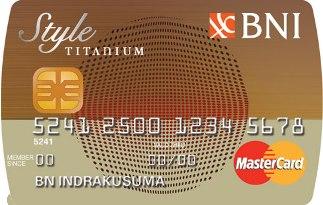 Kartu Kredit Bni Style Titanium Jaringan Mastercard Pilihkartu Com