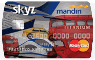 Informasi Kartu Kredit Mandiri Skyz Titanium | pilihkartu.com