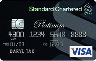 Informasi kartu kredit Standard Chartered Visa black platinu | pilihkartu.com