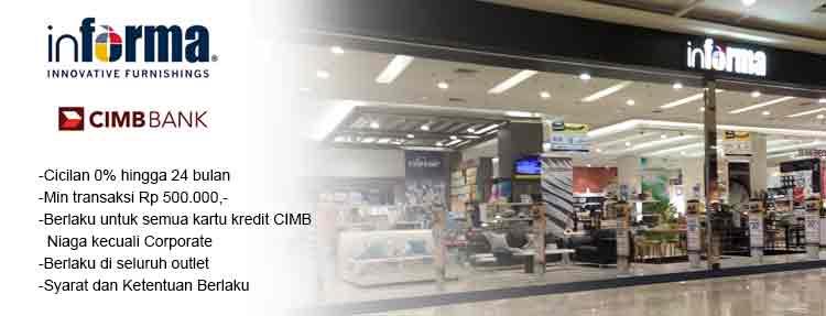 Cicilan 0% di Informa Store dengan Kartu Kredit CIMB Niaga
