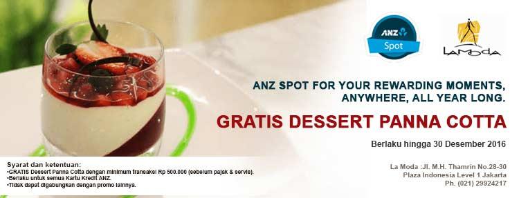 Dapatkan Free Dessert Pana Cotta dengan Kartu Kredit ANZ