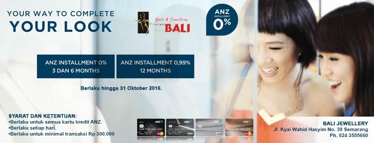 Cicilan 0% di Gold & Jewellery Bali dengan Kartu Kredit ANZ