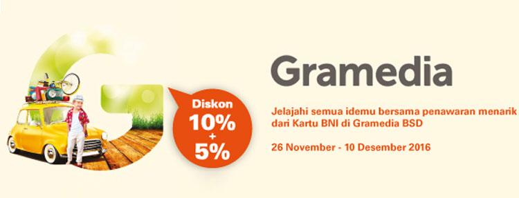 Diskon 10% + 5% - Opening Gramedia BSD Karawaci