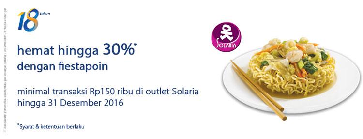 Hemat hingga 30% dengan fiestapoin di Solaria