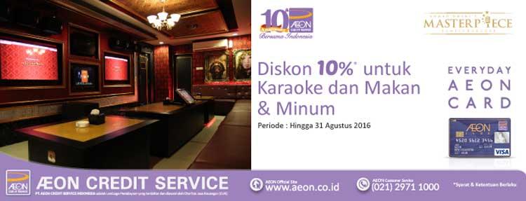 Diskon 10% di Ahmad Dhani Masterpiece Family Karaoke