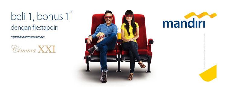 Beli 1 Gratis 1 Promo Cinema XXI dengan Mandiri Kartu Kredit
