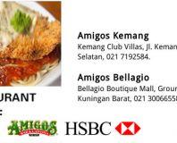 Diskon 15% OFF di Amigos Restaurant dengan HSBC Kartu Kredit
