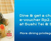 Menangkan E-voucher senilai 2.000.000 di Sushi Tei dan Sushi Kiosk