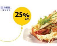 diskon 25% dengan Maybank Kartu Kredit di Ah Yat Abalone dan Ah Yat Seafood Restaurant