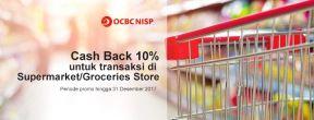 Cashback 10% Transaksi di Supermarket/Groceries Store dengan Kartu Kredit OCBC