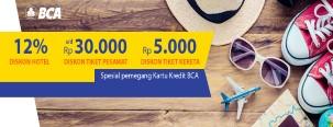Diskon Hotel, Tiket Pesawat dan Kereta via Pegipegi dengan Kartu Kredit BCA Visa/MasterCard