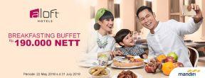 Breakfasting Buffet Rp 190.000 nett di Aloft Jakarta dengan Kartu Kredit Mandiri