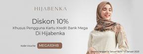 Diskon 10% di Hijabenka dengan Kartu Kredit Mega