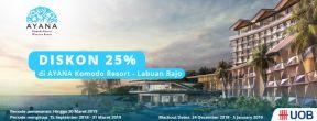 Diskon Spesial 25% di Ayana Komodo Resort Labuan Bajo dengan Kartu Kredit UOB