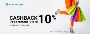 CashBack Department Store 10% dengan menggunakan Kartu Kredit Bukopin