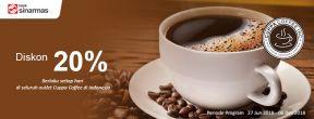 Diskon 20% Cuppa Coffee dengan Kartu Kredit Sinarmas