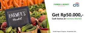 Dapatkan Bonus Rp50.000,- di Farmers Market untuk Kartu Kredit Citibank