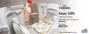 Save 10% Tiket PP Emirates dengan Kartu Kredit Citibank