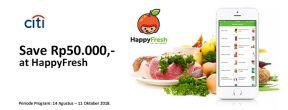 Hemat Rp 50.000 di HappyFresh dengan Kartu Kredit Citbank