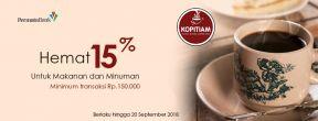 Hemat 15% F&B di Kopitiam dengan Kartu Kredit Permata