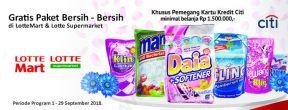 Gratis Paket Bersih-Bersih dari Lotte Mart