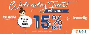 Diskon 15% Tiap Hari Rabu di Lemonilo dengan Kartu Kredit BNI