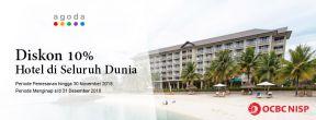 Diskon 10% Hotel di Agoda dengan Kartu Kredit OCBC NISP