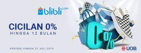 Cicilan 0% hingga 12 bulan di Blibli dengan Kartu Kredit UOB