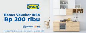 Bonus Voucher IKEA Rp200.000 dengan Kartu Kredit BRI