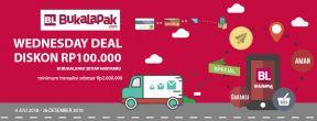 Promo Wednesday Deal - Diskon Rp100.000 di Bukalapak dengan Kartu Kredit HSBC