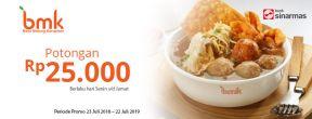 Potongan Rp 25.000 di Bakso Malang Karapitan dengan Kartu Kredit Visa Bank Sinarmas