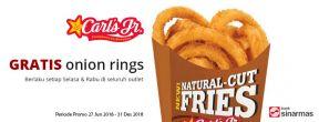 Gratis Onion Rings di Carl's Jr dengan Kartu Kredit Sinarmas