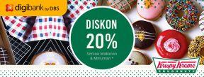 Diskon 20% di Krispy Kreme dengan Kartu Kredit Digibank