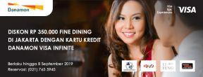 Diskon Rp 350.000 di Restoran Pilihan dengan Kartu Kredit