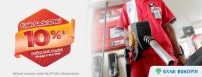 Cashback SPBU 10% dengan menggunakan Kartu Kredit Bukopin