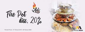 Promo Dining Fire Pot Diskon 20% dengan Kartu Kredit Mega