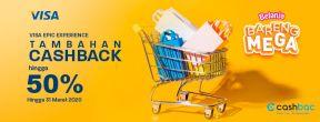 Ekstra Cashback 50% dengan Kartu Kredit Mega