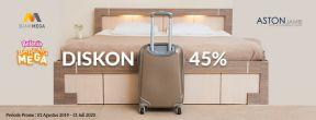 Diskon 45% di Hotel Aston dengan Kartu Kredit Mega