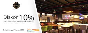 Diskon 10% untuk Menu Utama di Eclectic Pub and Lounge dengan Kartu Kredit Danamon
