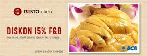 Diskon 15% untuk F&B di Token Resto dengan Kartu Kredit BCA