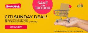 CITI Sunday Deal Bukalapak dengan Kartu Kredit Citi