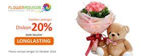 Diskon 20% di FlowerAdvisor dengan Voucher