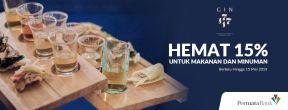 Hemat 15% untuk Makanan dan Minuman di GIN 1717 dengan Kartu Kredit Permata