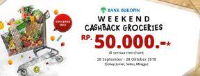 Weekend Cashback Groceries Rp.50.000 dengan Kartu Kredit Bukopin